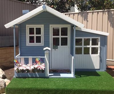 Malibu Large Solid HARDWOOD Timber Kids Cubby House - Del Available (ON SALE)