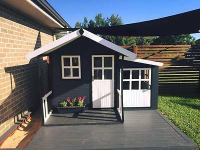 Manor Large Solid HARDWOOD Timber Kids Cubby House - Del Available (ON SALE)
