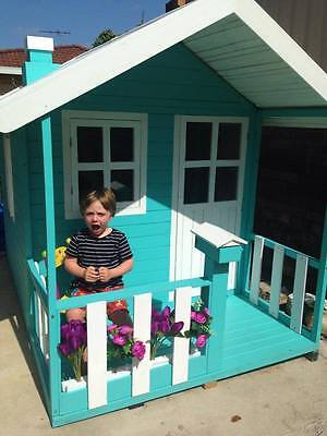 Havana Solid HARDWOOD Timber Kids Cubby House - Delivery Available (ON SALE)