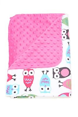 """Dotted Minky Baby Blanket double-sided super soft """"30 x 40"""""""