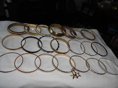 ladies bangles some thicker than others jewellery mixed