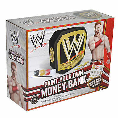 WWE Paint Your Own Money Bank