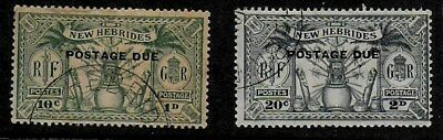New Hebrides 1925 Postage Due Stamps - Used