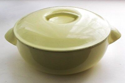 Vintage Le Creuset - Small Casserole-16- Lemon Yellow- Made in France