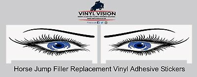 Plastic Show Jump Filler Replacement Stickers Horse, Equestrian, spooky, eyes