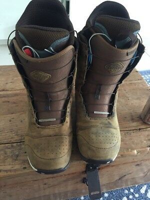 Men's BURTON ION Redwing Snowboard Boots US 11 EUR 44 Brown Leather