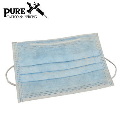 Disposable Face Mask - Blue Tattoo face shield, No off-smell, Anti Dust