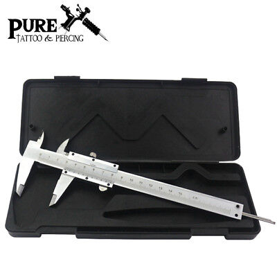 Stainless Steel CALIPERS Body Piercing Measure RULER Gauge - Autoclavable