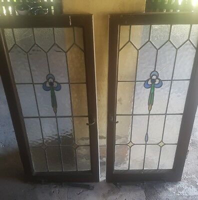 5 Leadlight windows from character listed house