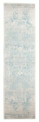 Hallway Runner Hall Rug Traditional Persian White Blue 5 Meters Extra Long Mat