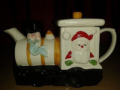 Novelty Teapot..  Santa's Train