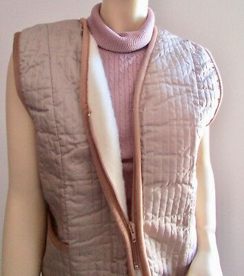 Ladies Gilet, Wool Vest, Vest for Women, with Quilted Fabric Made in Germany