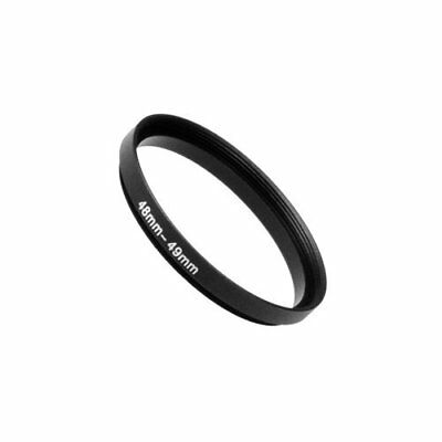 Fotodiox Metal Step Up Ring Filter Adapter Anodized Black Aluminum 48mm-49mm ...