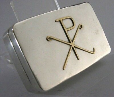 BEAUTIFUL SOLID STERLING SILVER PYX HOLY COMMUNION WAFER BOX c1980 101g