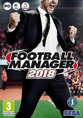 Football Manager 2018 (PC) Brand New & Sealed UK PAL Quick Dispatch
