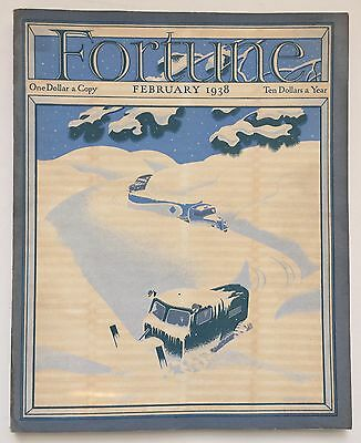 Fortune Magazine February 1938 - Great Cover & Ads