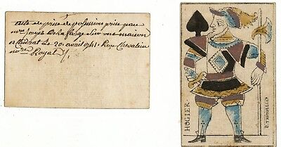 Ancienne Carte A Jouer 1741 -18Eme Siecle Playing Cards -Valet De Pic -Hogier