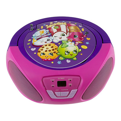 Children CD Player for kids Boombox Music Players (Shopkins)