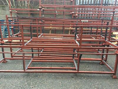 Steel Stillages Stackable Used Once, Great Condition. 430mm High.