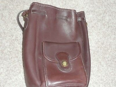 Vintage Coach Brown Leather Top Handle- Drawstring A7C-9992 Excellent Cond