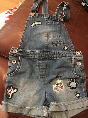 Next Dungarees Age 4 Unicorn/skate Motiff