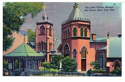 1930-40 The Little Church Around The Corner New York City NY Linen Unused