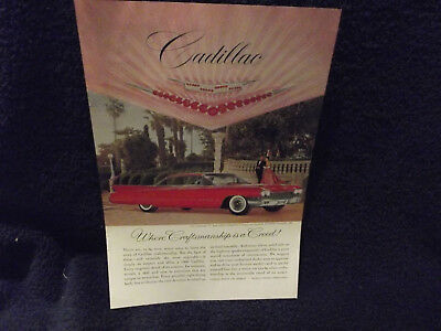1960 CADILLAC COUPE DeVILLE HARRY WINSTON RUBIES & DIAMONDS CREST  COLOR AD