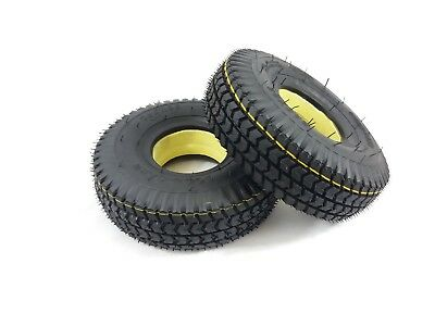 Pair of 3.00-4 (260x85) (300x4) Black Solid (Good Care)  Mobility Scooter Tyres