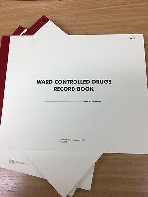 Ward Controlled Drugs Record Books X4