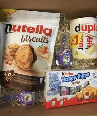 Nutella Biscuits Box 🍪🍫  ^ Duplo White - Happy Hippo - Milka  löffel ei milch^