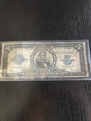 $5 Series 1923 Porthole Silver Certificate nice circulated condition