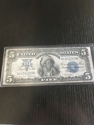 "1899 Fr.275 $5 United States ""INDIAN CHIEF"" Silver Certificate - NO RESERVE!"