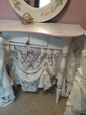 Vintage 1940's Kidney Shaped Vanity Dressing Table