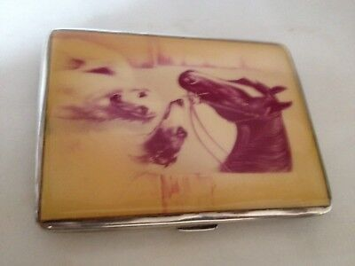 Solid Silver And Enamelled Cigarette Case 1939