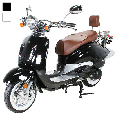 znen zn125t e retro roller korea honda yamaha old school. Black Bedroom Furniture Sets. Home Design Ideas