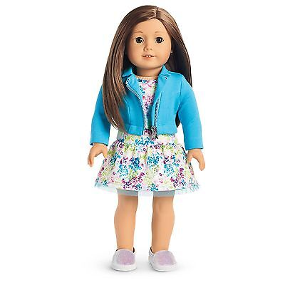 AMERICAN GIRL TRULY ME Doll #59 BRAND NEW Brown Hair w/ DRESS MOTO JACKET SHOES