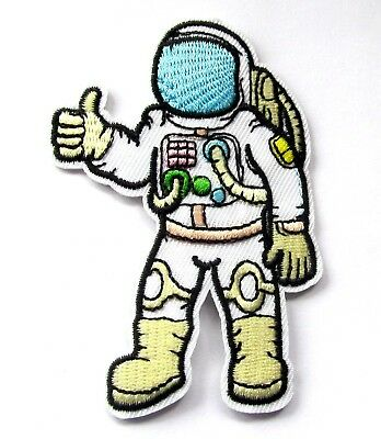 Space Cadet Iron On Patch Astronaut Nasa Spaceman Geeky Gift Transfer Applique C