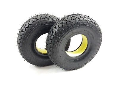 Pair 4.00-5 (330x100) Black Solid (Infilled) Mobility Scooter Tyres (CiLe) #NEW#
