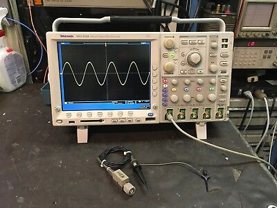 Tektronix MSO4104 Mixed Signal Oscilloscope W/ Front Cover & P6139 Probe TESTED