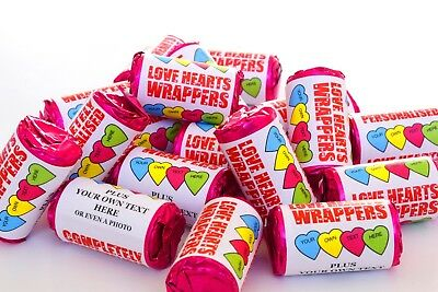 Completely Personalised Love Hearts Sweets Wedding Favours - Hen Night - Mehndi