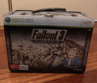 Fallout 3 Collectors Edition Xbox 360 Lunchbox With Vault Boy Bobble Head