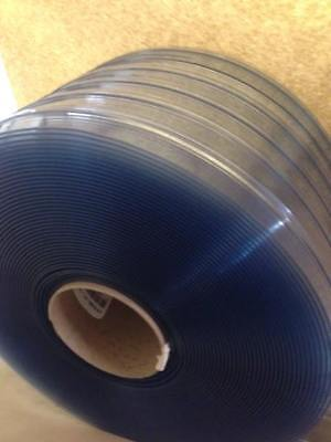 "PVC Vinyl Strip material Bulk Roll 12"" USDA Freezer Ribbed X 150ft Roll"