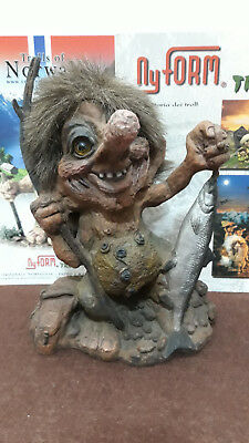 Troll Norvegese Ny Form Nyform 840-284 Fishing Pescatore col Salmone Norway