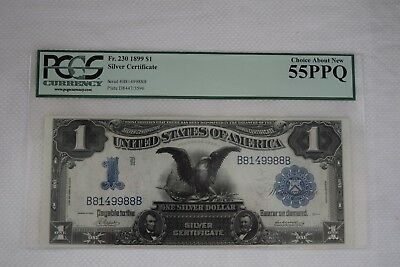 Fr.230 1899 $1 Silver Certificate Graded 55 PPQ by PCGS 55PPQ  Black Eagle Note