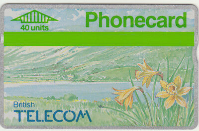 BT Commemorative 21 Spring Flowers 1990 Daffodils, Mint phonecard