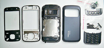 Black Fascia housing cover facia case for Nokia N86 black faceplate