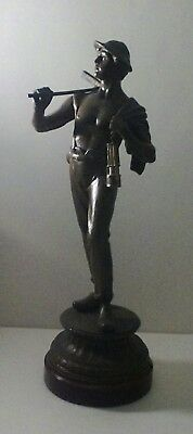 ANTIQUE 20 INCH TALL SPELTER FIGURAL LATE 1800'S TO EARLY 1900's CIRCA.