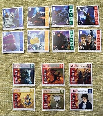 Harry Potter Unused (MINT) 'Isle of Man' Stamps x14 Collection 2004/05