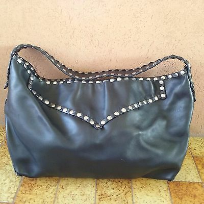 Borsa Sacca  Bag Vera Pelle Genuine Leather Borchie Studs Vintage Motorcycle