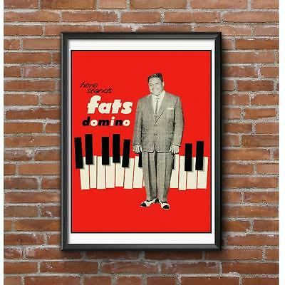 Fats Domino 1957 Record Release Poster - Here Stands Fats Domino